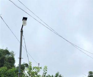 Street lamps in Sohra